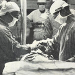 Dr. Lillehei (right) &, Dr. Richard Varco.