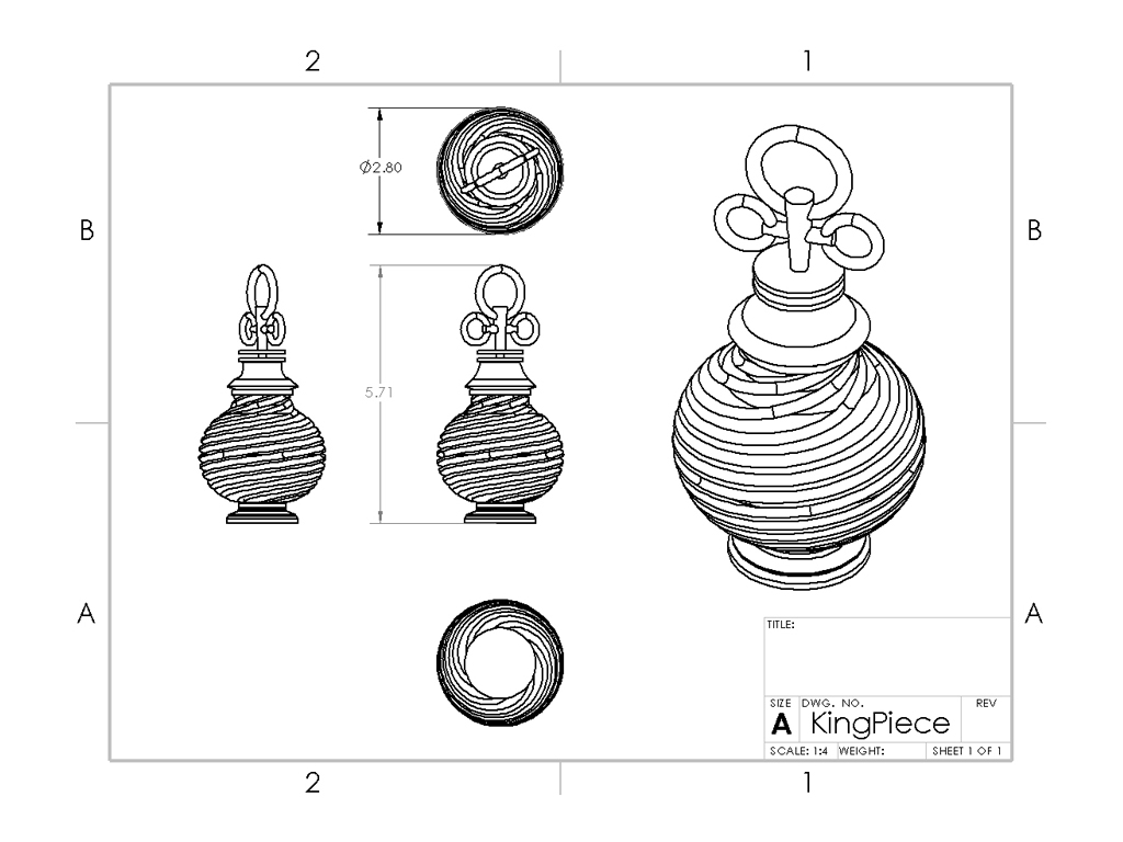 3D PRINTED PERFUME BOTTLE CHESS PIECE