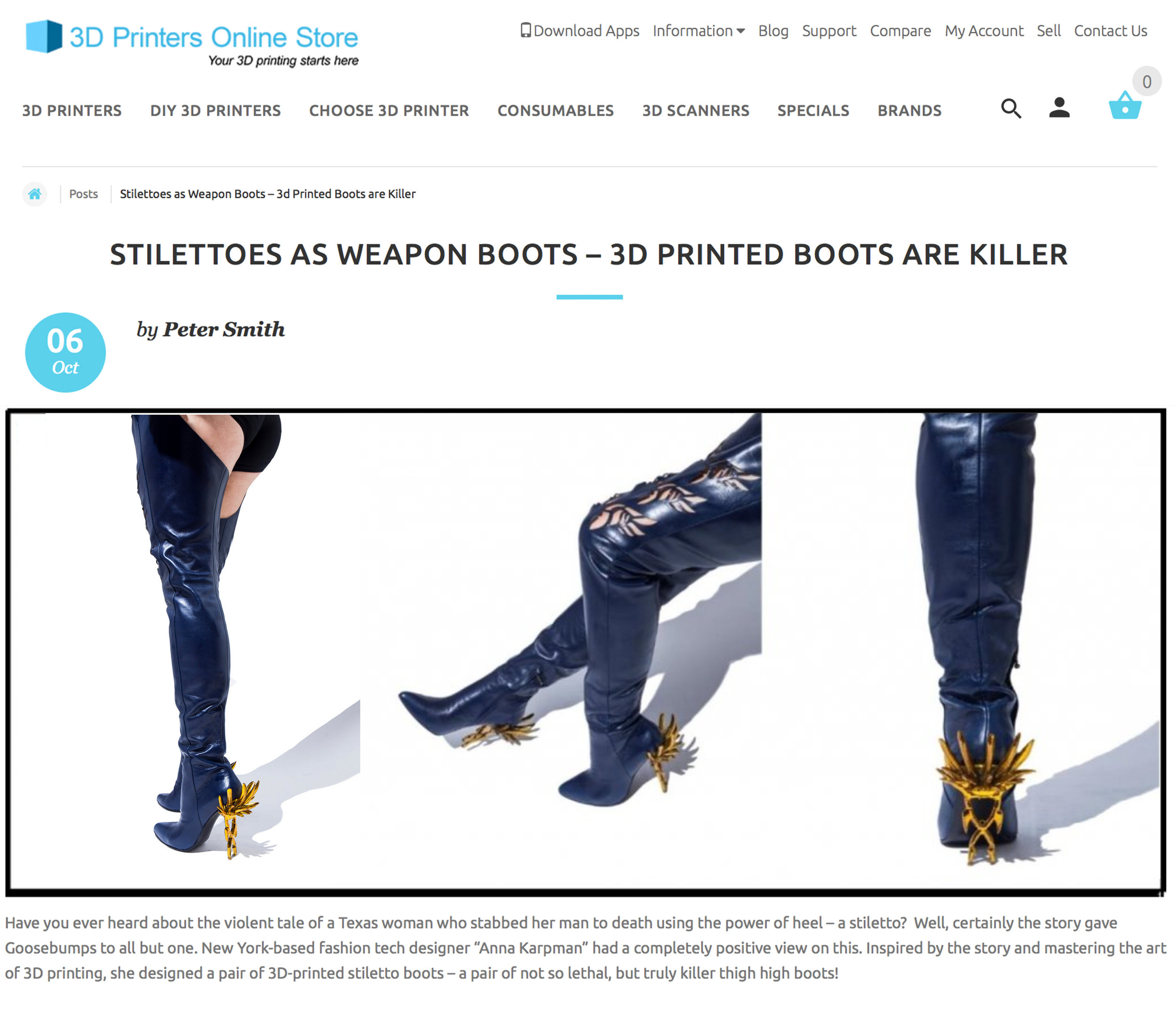 CONCEPT AK FEATURED ON 3DPRINTERSONLINESTORE.COM, OCTOBER 2016