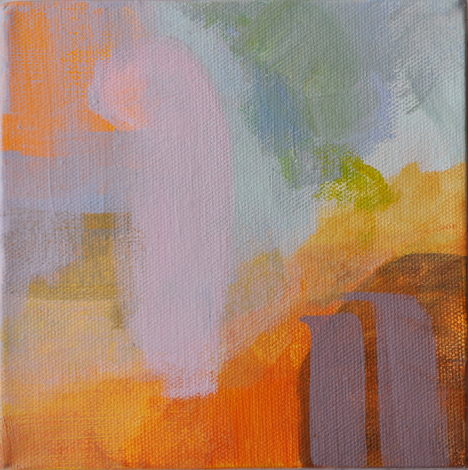 "Hanging Gardens of Babylon 2. Acrylic on Canvas. 6""x 6"""