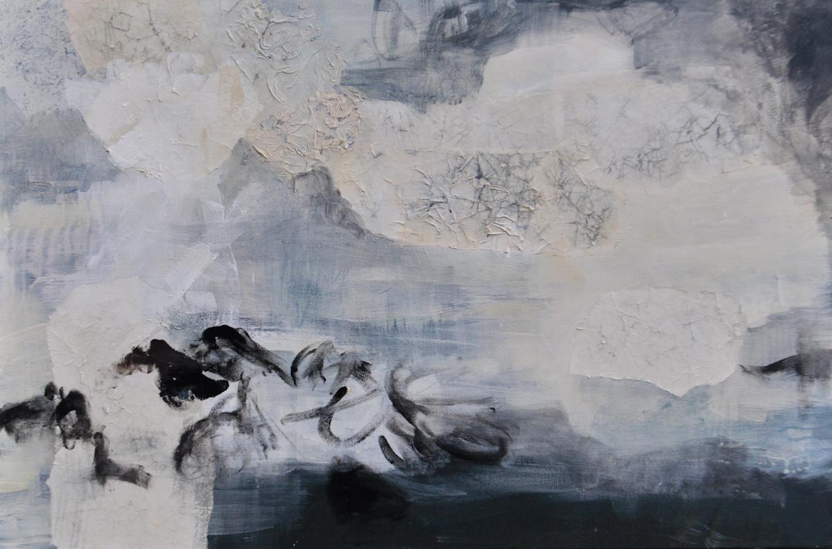 """The Journey of Ōkuninushi. Mixed media on canvas 36"""" x 24"""""""