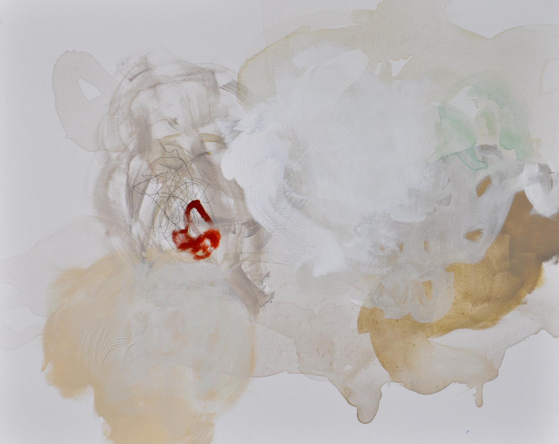 "Quietly. Acrylic on canvas. 24""x 30"""