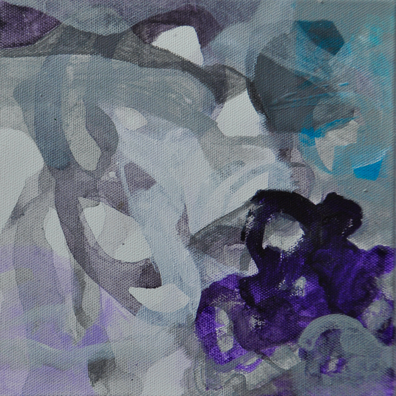 "Intertwine. Acrylic on canvas. 8""x 8"""