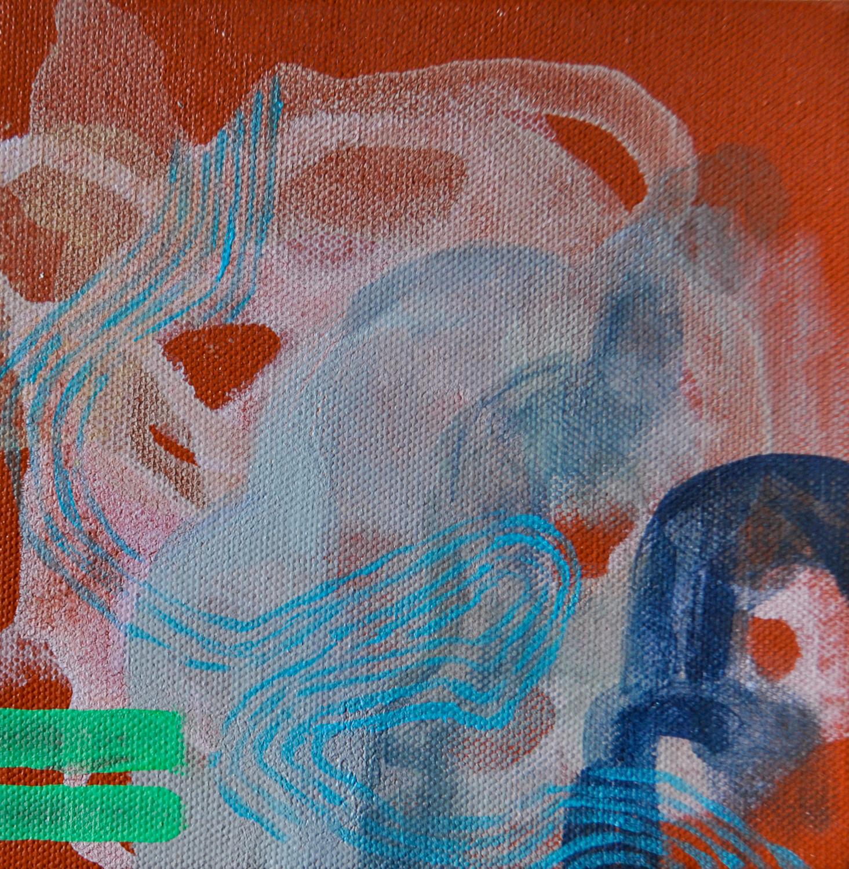 "Hanging Gardens of Babylon #5. Acrylic on canvas. 6""x 6"""
