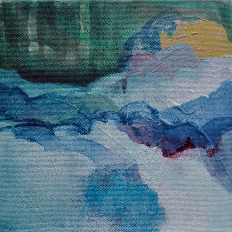"A Glimpse of Heaven Inside. Acrylic on canvas. 8""x 8"""