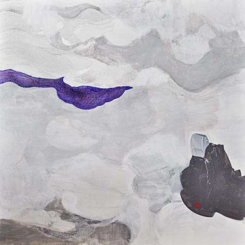 "Subtle Interpretations. Acrylic and ink on canvas. 24""x 24"""