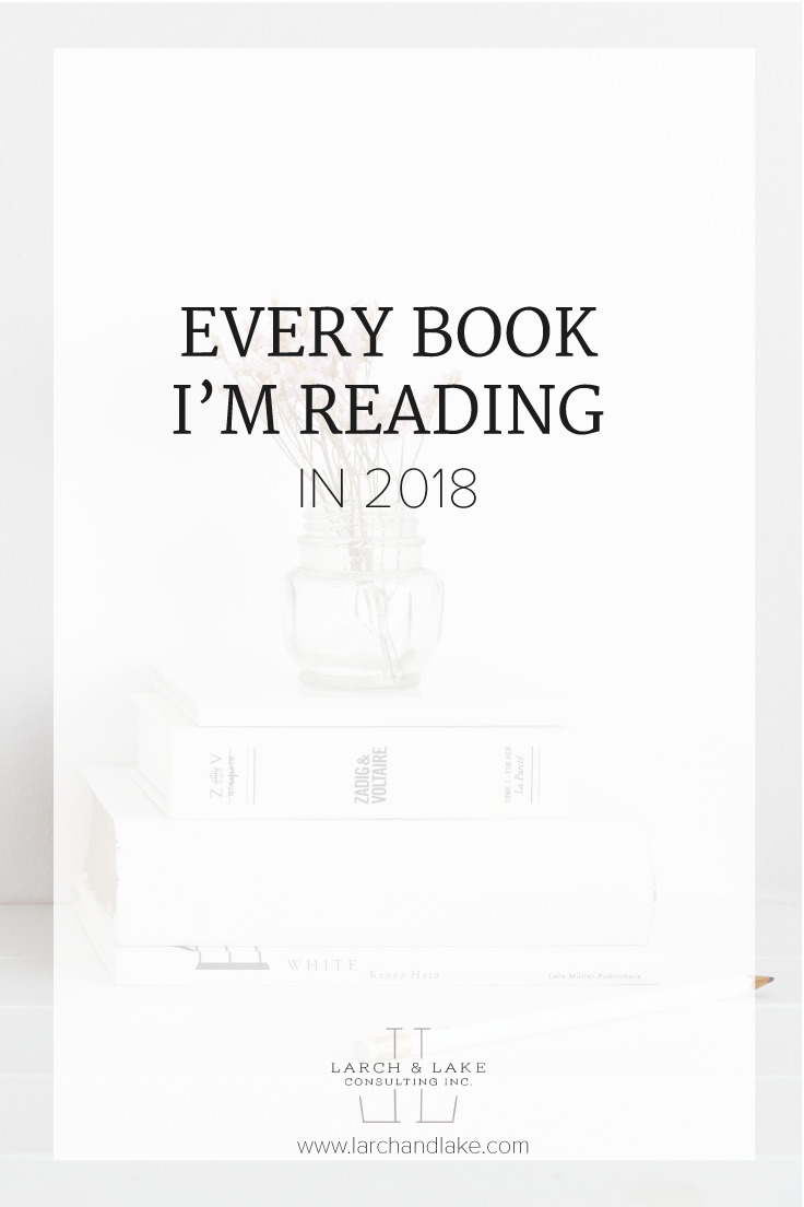 This year I am putting a little more thought and strategy into my reading list. I am going to cover some business topics, but a lot of personal growth books. I am excited! Are you going read along with me?