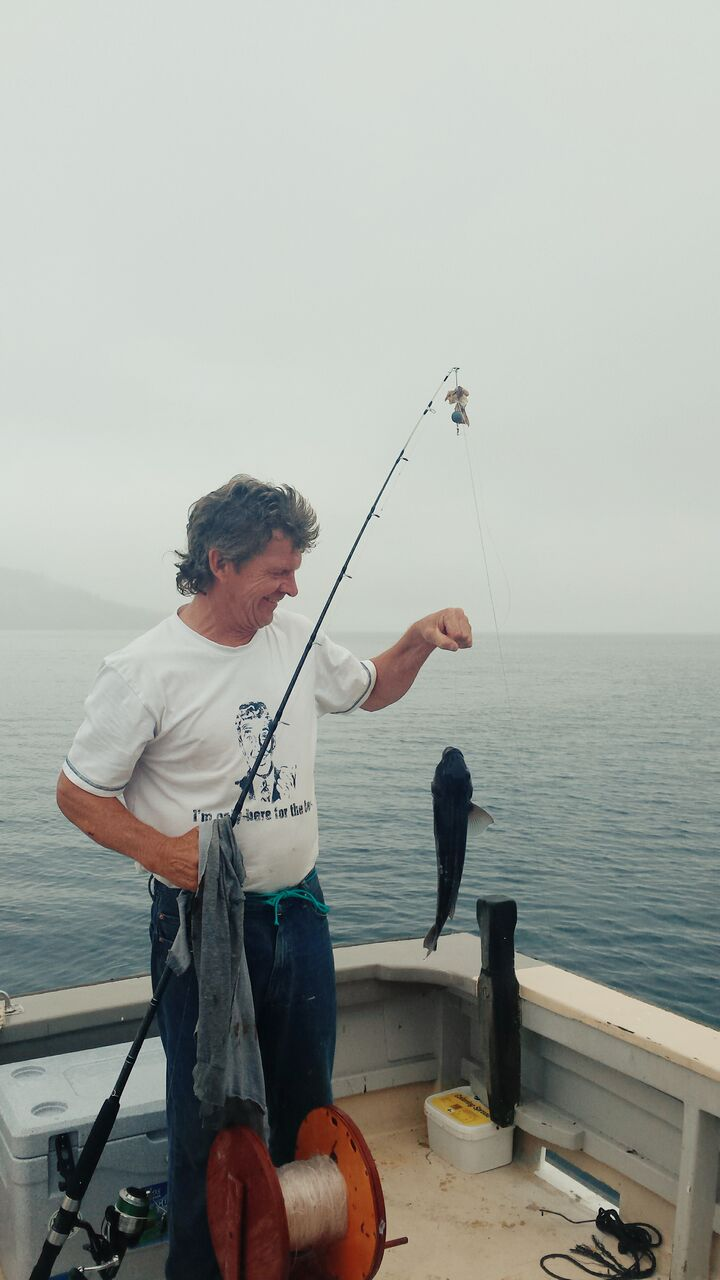 Wayne stoked with his 45cm Blue Cod.