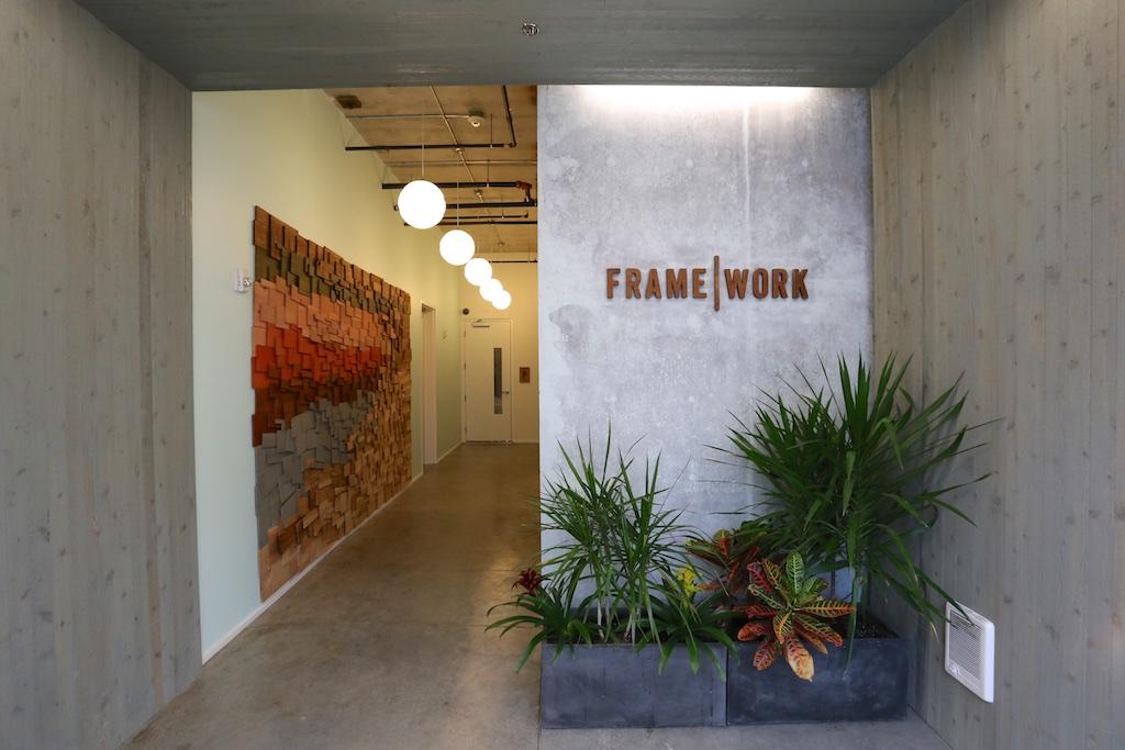 Lobby redesign, Framework Building, Portland, OR