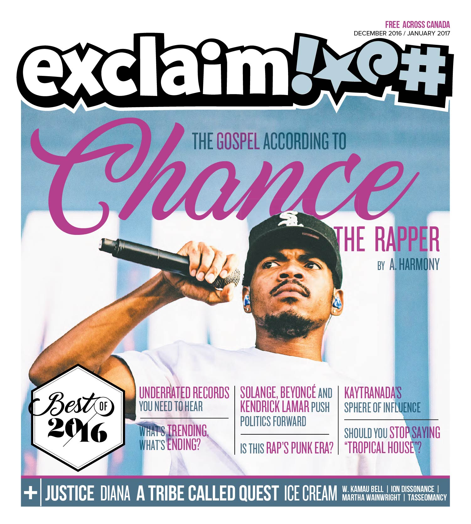 Chance The Rapper - Photo Annual Cover - Exclaim Magazine