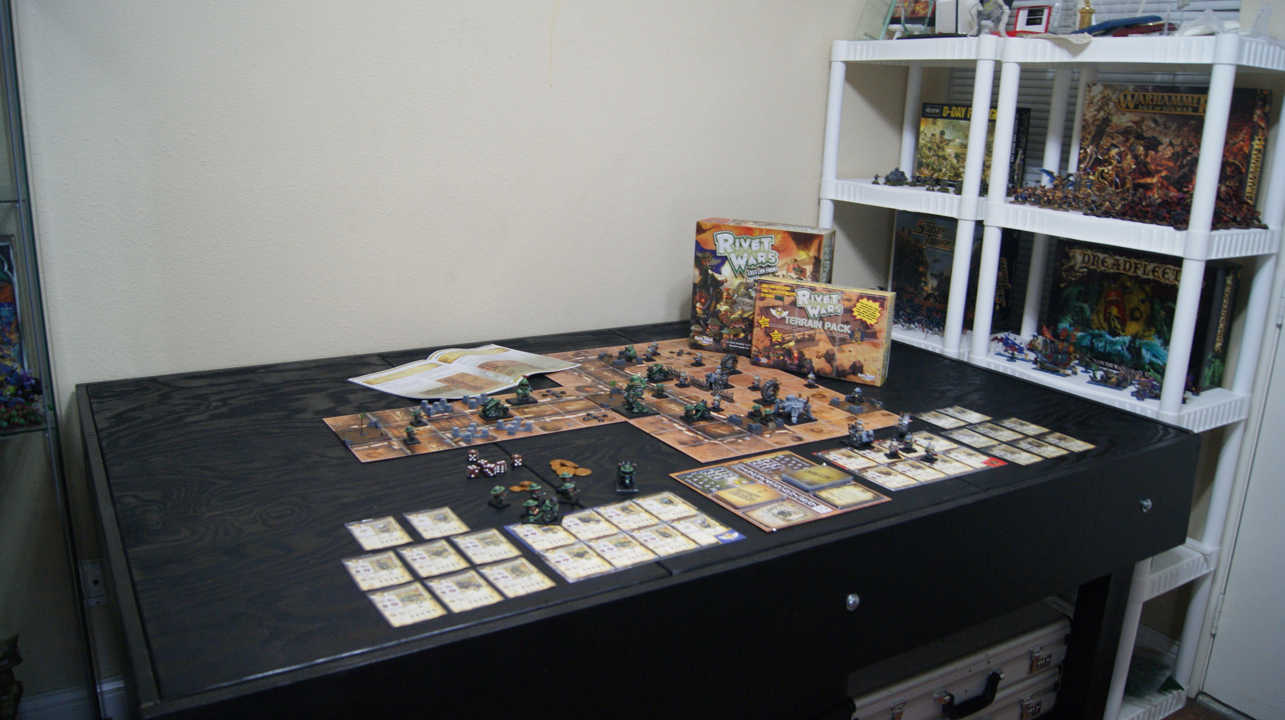 Board Game Room Table Warhammer Rivet Wars Mancave