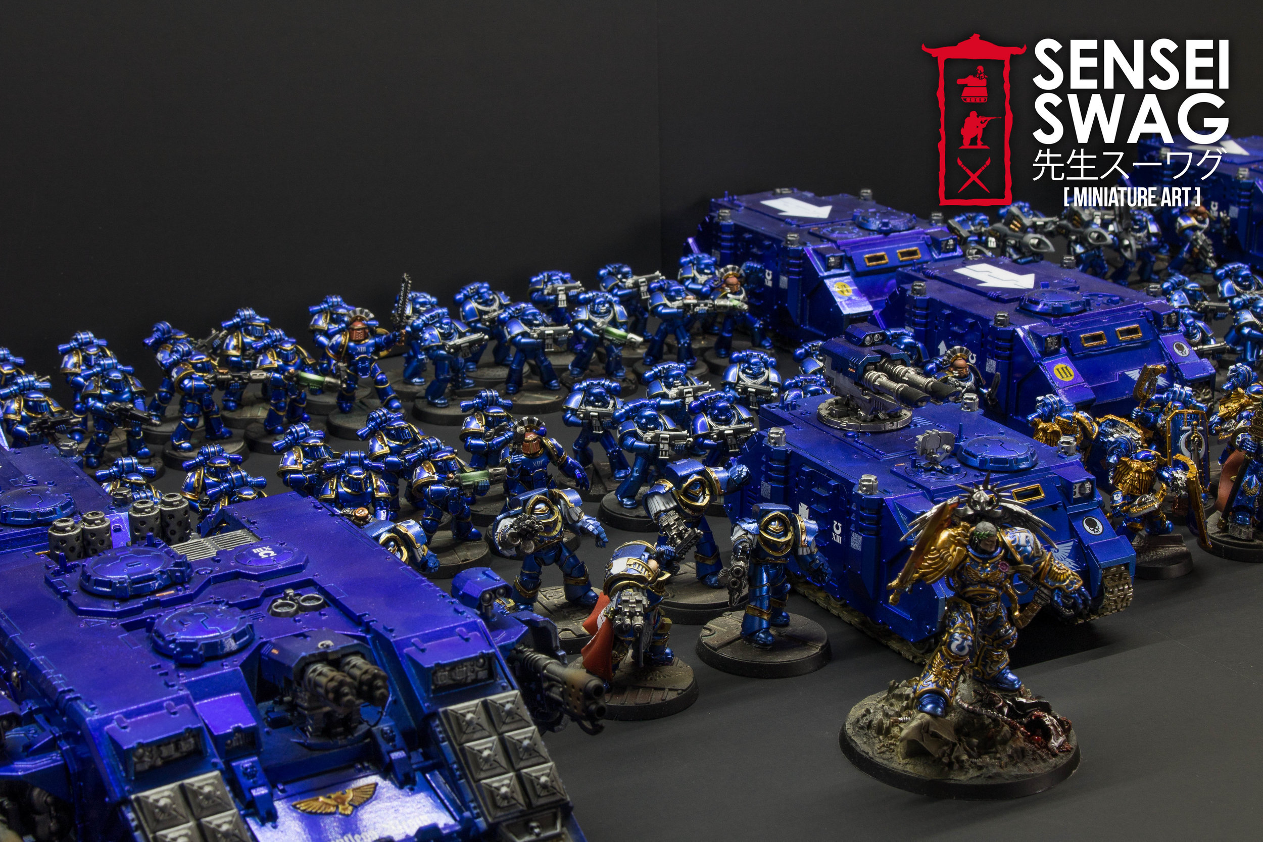 Ultramarines 2nd Battle Company Guilliman Shiny Chome Gloss Blue-4.jpg