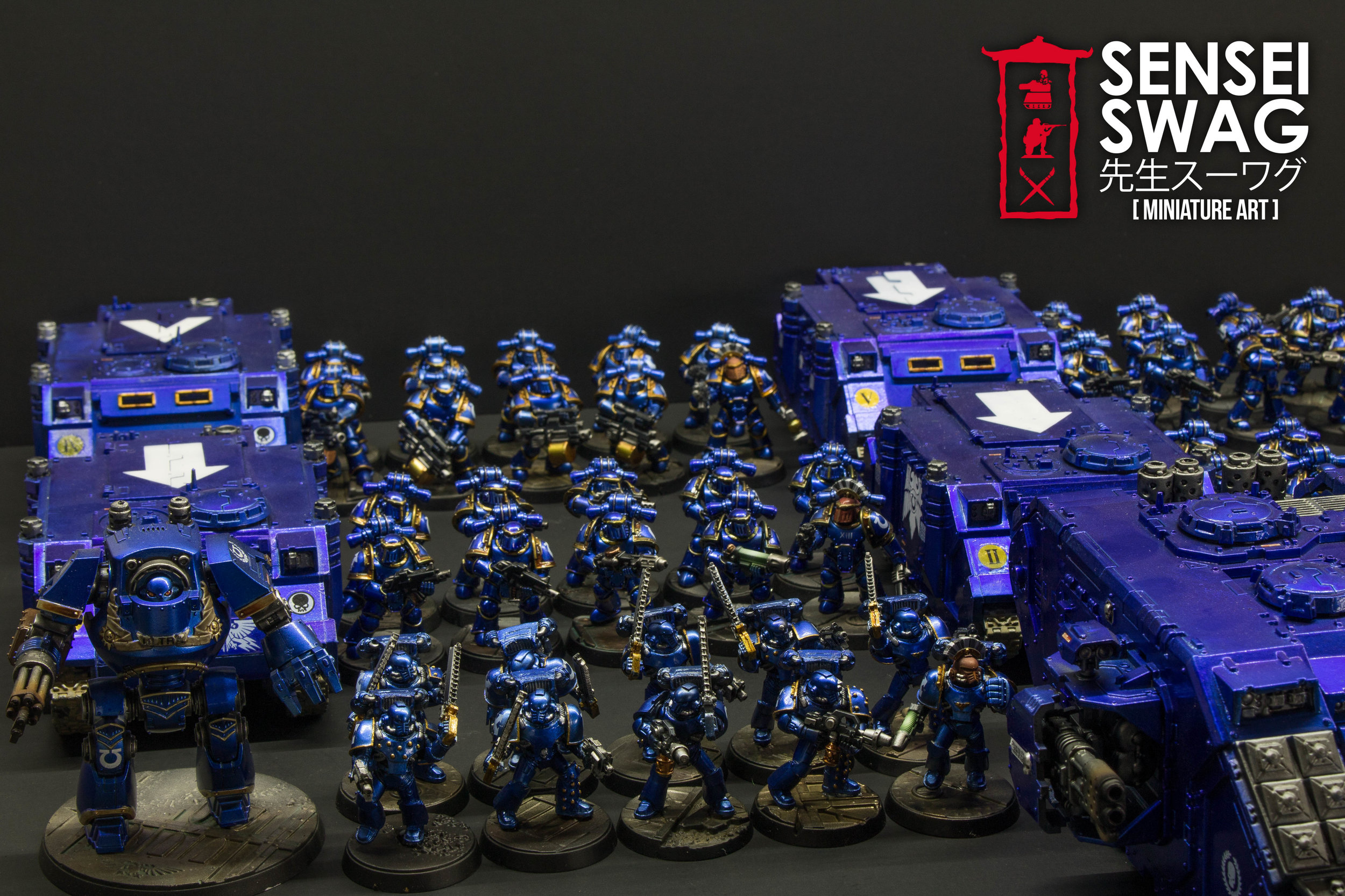 Ultramarines 2nd Battle Company Guilliman Shiny Chome Gloss Blue-5.jpg