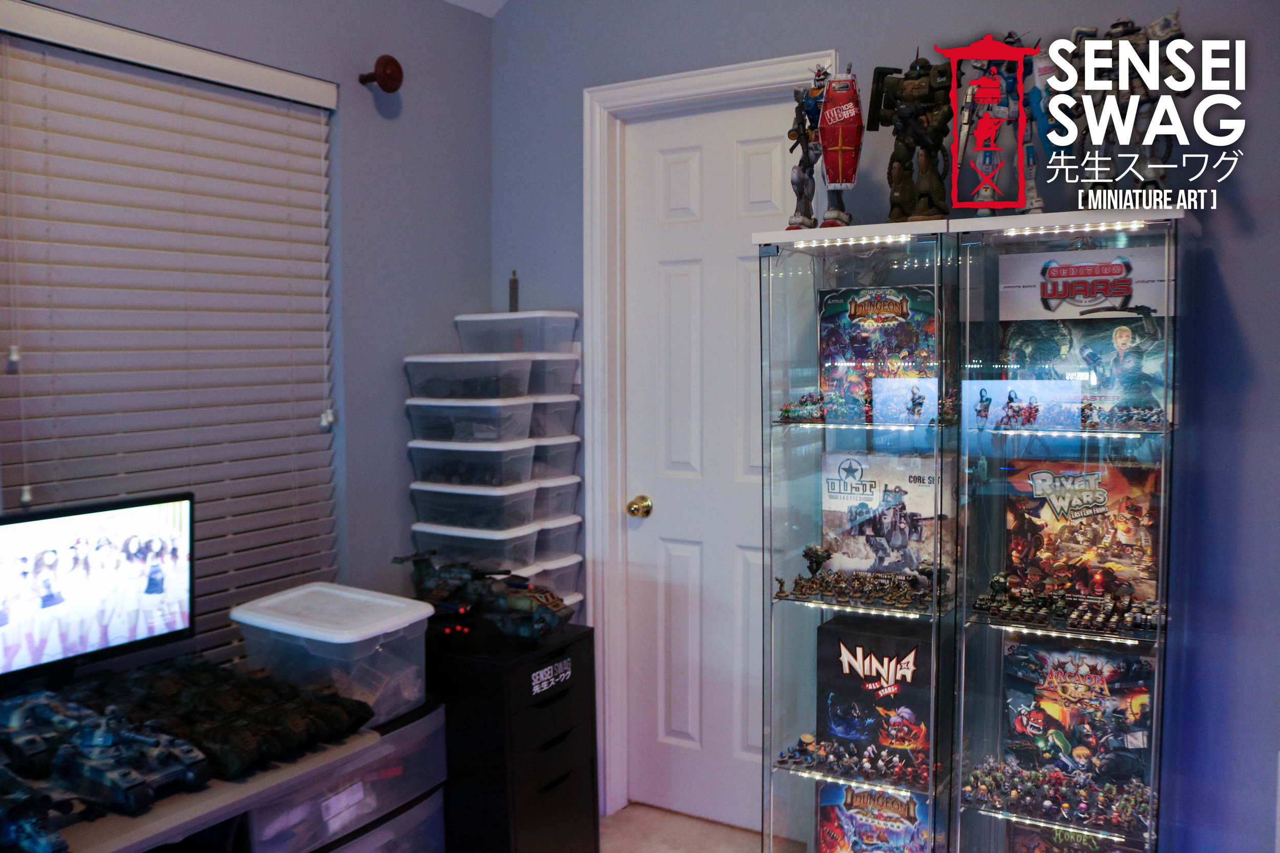 Warhammer Painting Studio Room Game Mancave Art Station Paint Rack-5.jpg