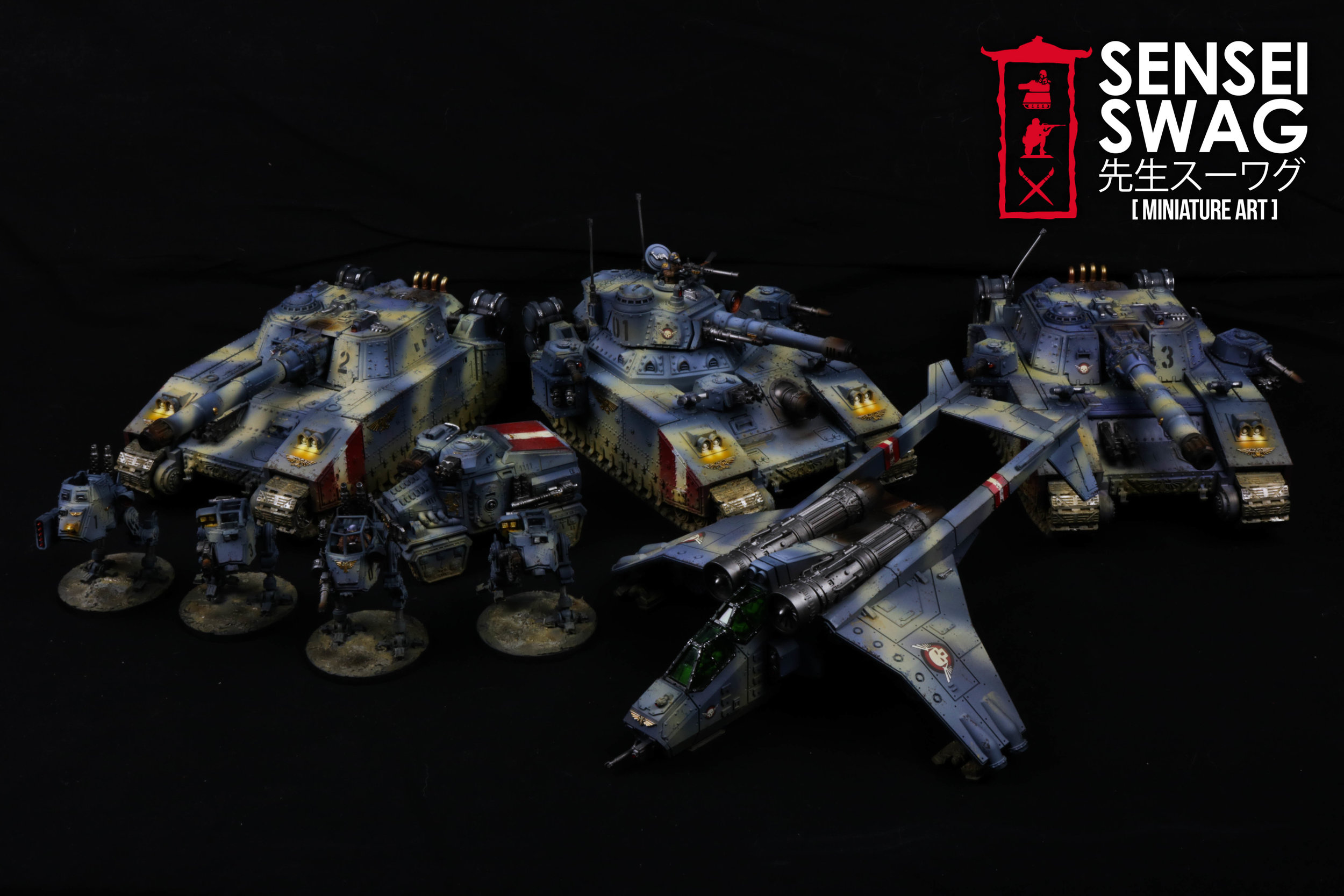 Imperial Guard Tempestus Scions Baneblade glowing lights 40k Tank-1.jpg