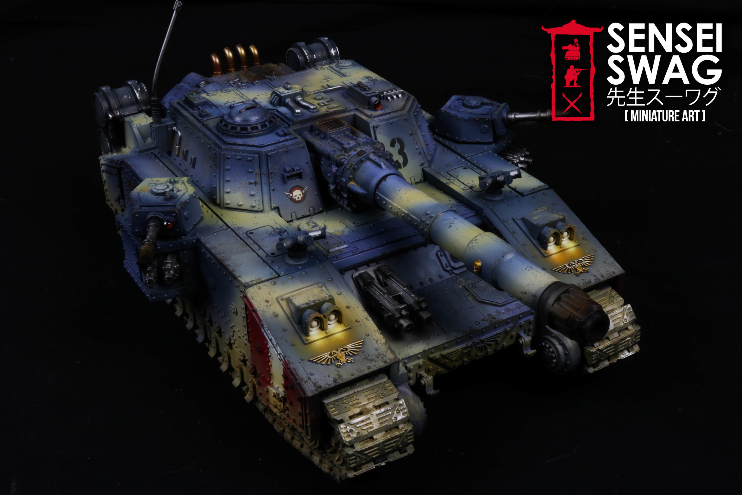Imperial Guard Tempestus Scions Baneblade glowing lights 40k Tank-4.jpg