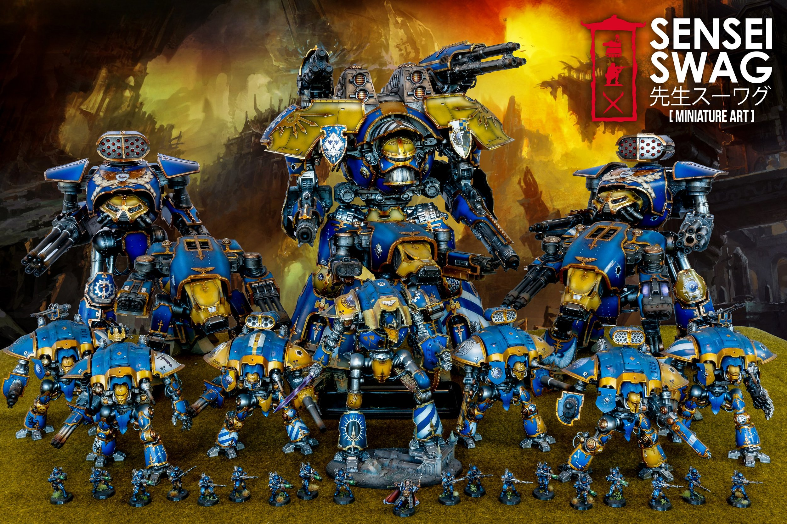 Legio Astorum Titan Maniple 40k Warlord Reaver Warhound Knight-1-2 Scale.jpg