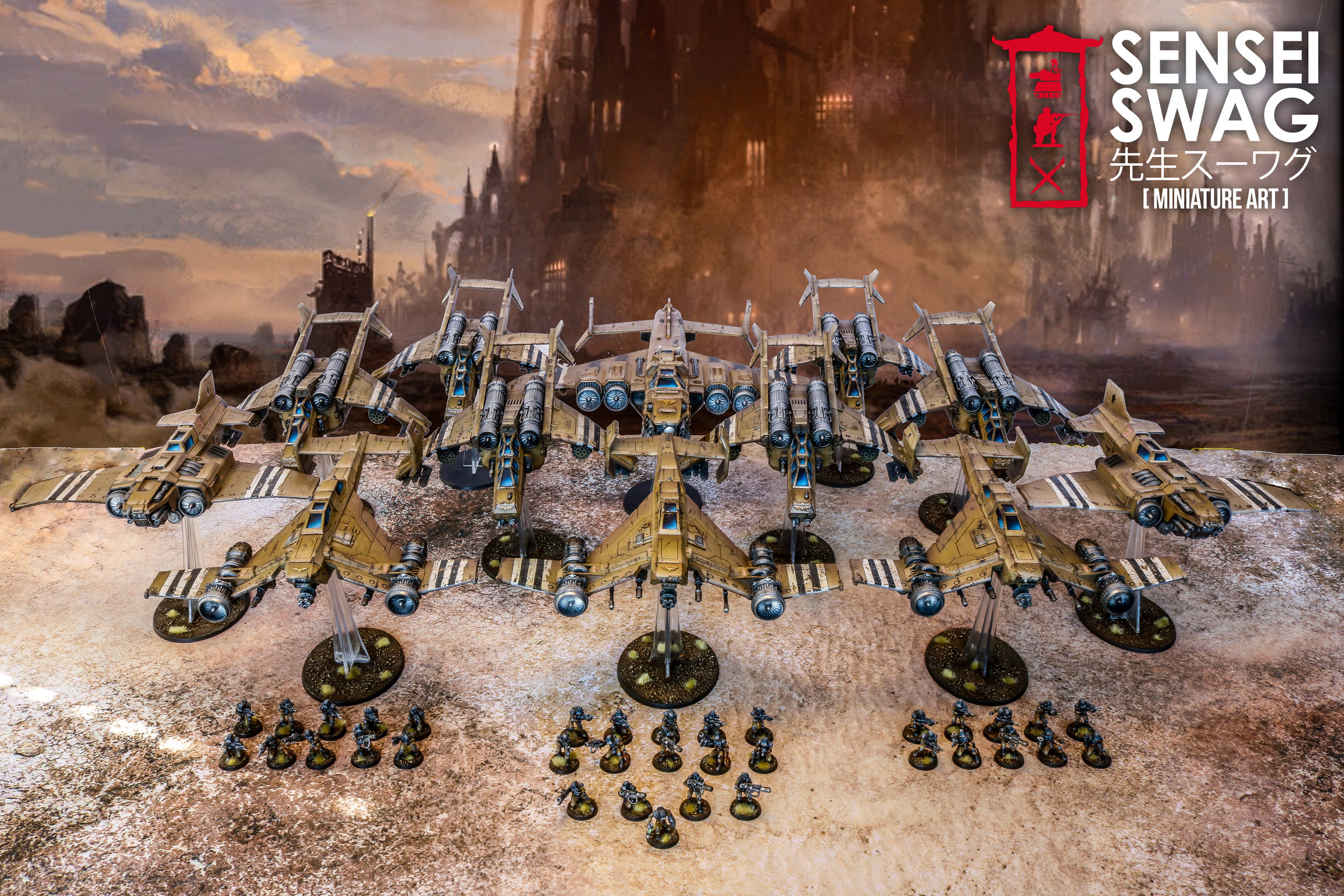 40 Desert Elysian Drop Troopers Imperial Guard Astra Militarum Marauder Bomber Destroyer Thunderbolt Avenger Strike Fighter Valkyrie Vendetta -2.jpg