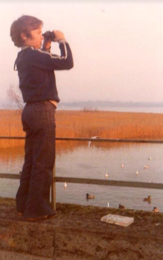 Sweet, age 10 in 1975, at Chew Valley Lake in England.