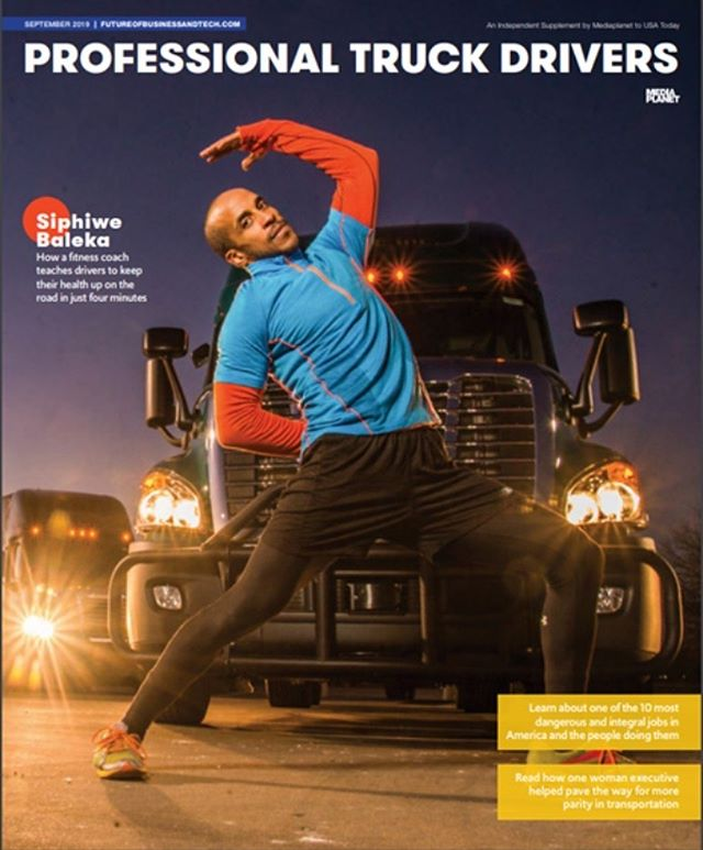 The USA Today Publication featuring Siphiwe Baleka is now available:  Print Campaign (in the Houston, Dallas, Nashville, San Francisco, Cincinnati, Chicago, St. Louis and Kansas City markets)  Link to Campaign Directory: https://www.futureofbusinessandtech.com/campaign/professional-truck-drivers/ #health #healthy #truckers #truckerslife
