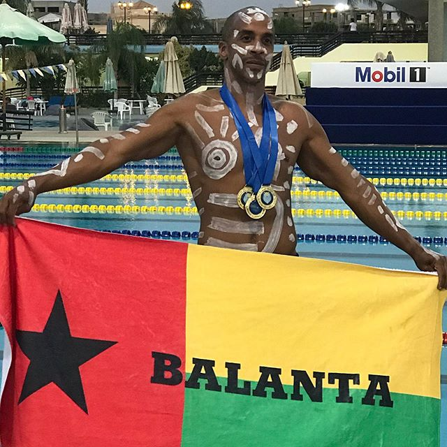 3 Races. 3 Gold Medals. 3 Egyptian National/Open Records  #swimming #afroswimmers #mastersswimming #mastersswim #guineabissau #guineabissau🇬🇼 #imguineabissau #goldmedal #goldmedalist
