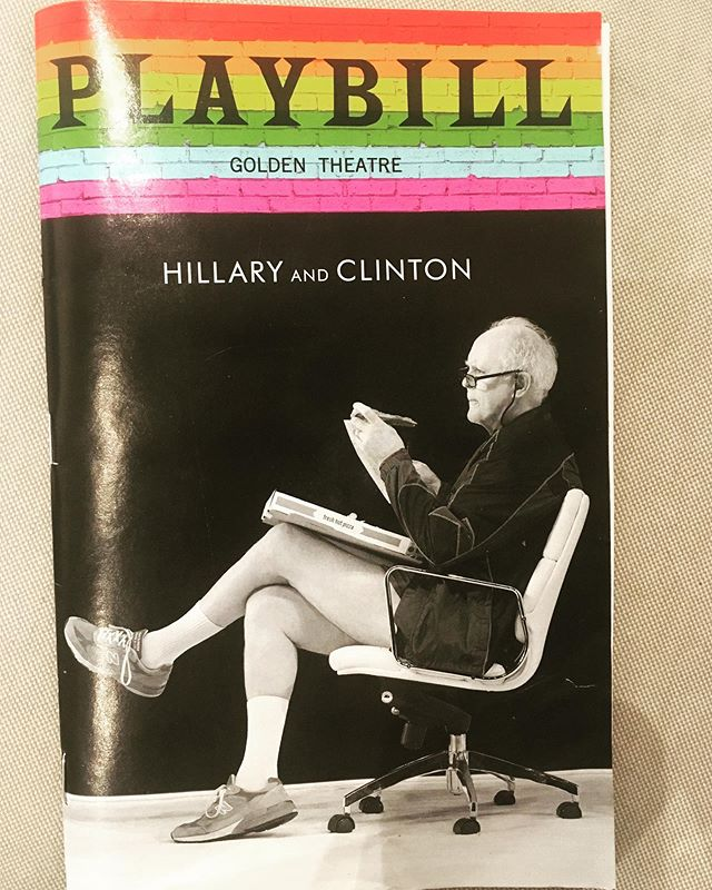 Don't miss your chance to see this show— it's closing early & the final show is this Sunday!  Laurie Metcalf is amazing, John Lithgow is perfect, and the staging is direct & powerful. I laughed a lot, a got angry at a few times, and had years of pent-up tears exploding out at the end. #hillaryandclintonbroadway #goldentheatre #lauriemetcalf #johnlithgow #nyctheatre #broadway #nycactress