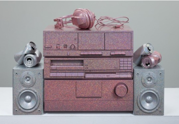 Sadie Barnette, 'Untitled (Sound system),' 2018 PHOTO: COURTESY OF THE ARTIST AND CHARLIE JAMES GALLERY, LOS ANGELES.  PHOTO: MICHAEL UNDERWOOD