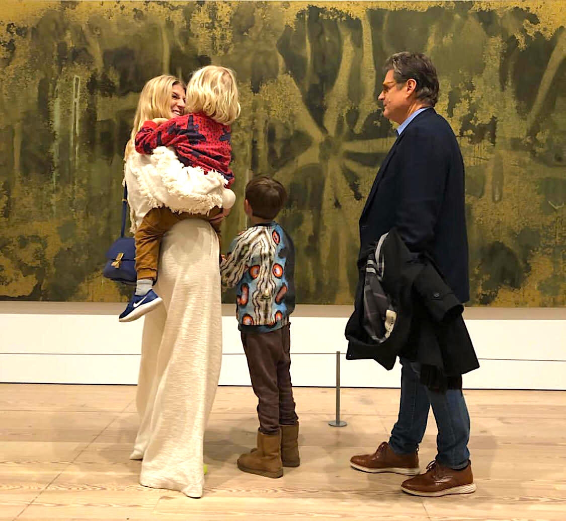 Casey Fremont with her kids and father at the Whitney Museum. Photo courtesy Casey Fremont.