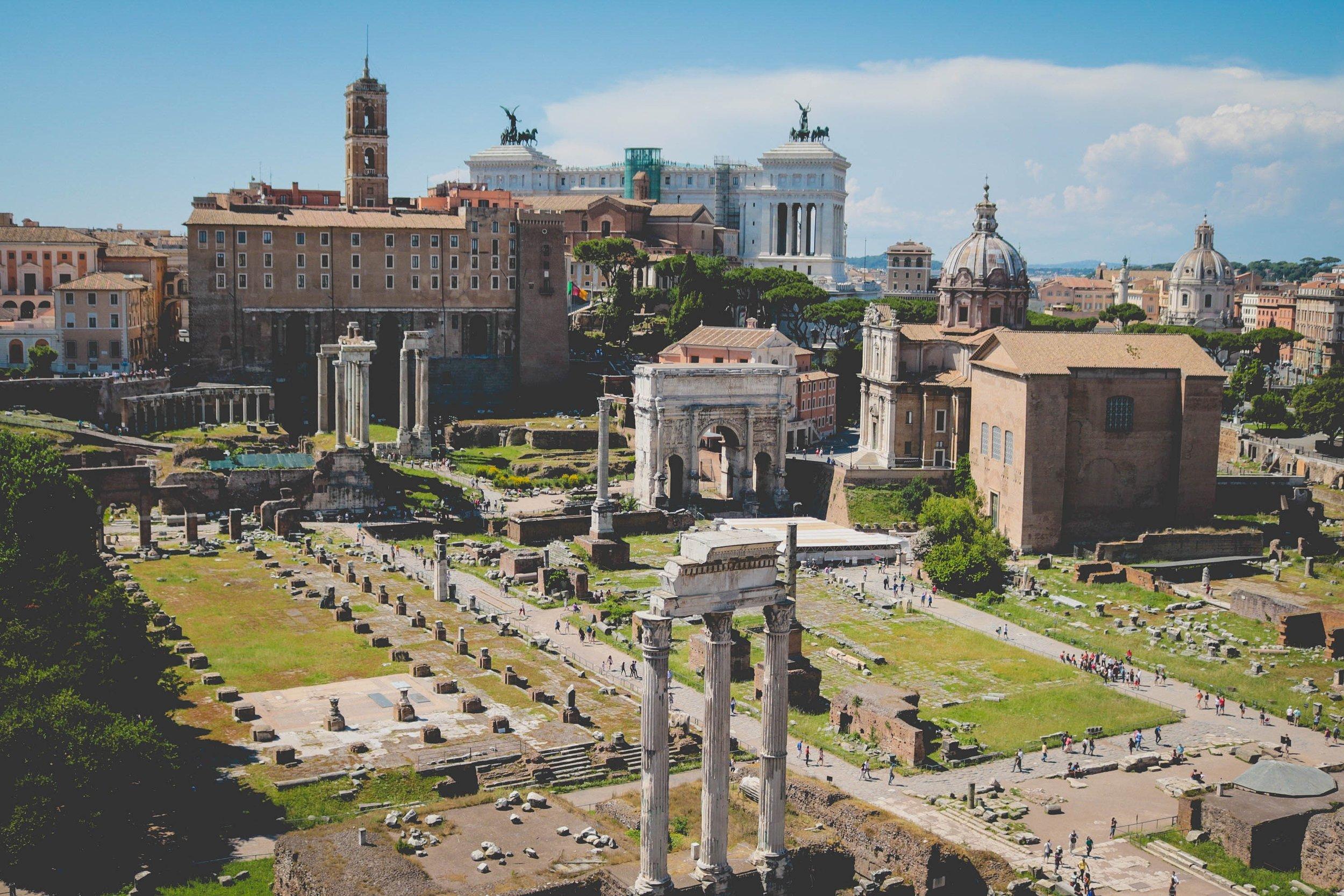 Tempio del Divo Claudio in Rome, Italy