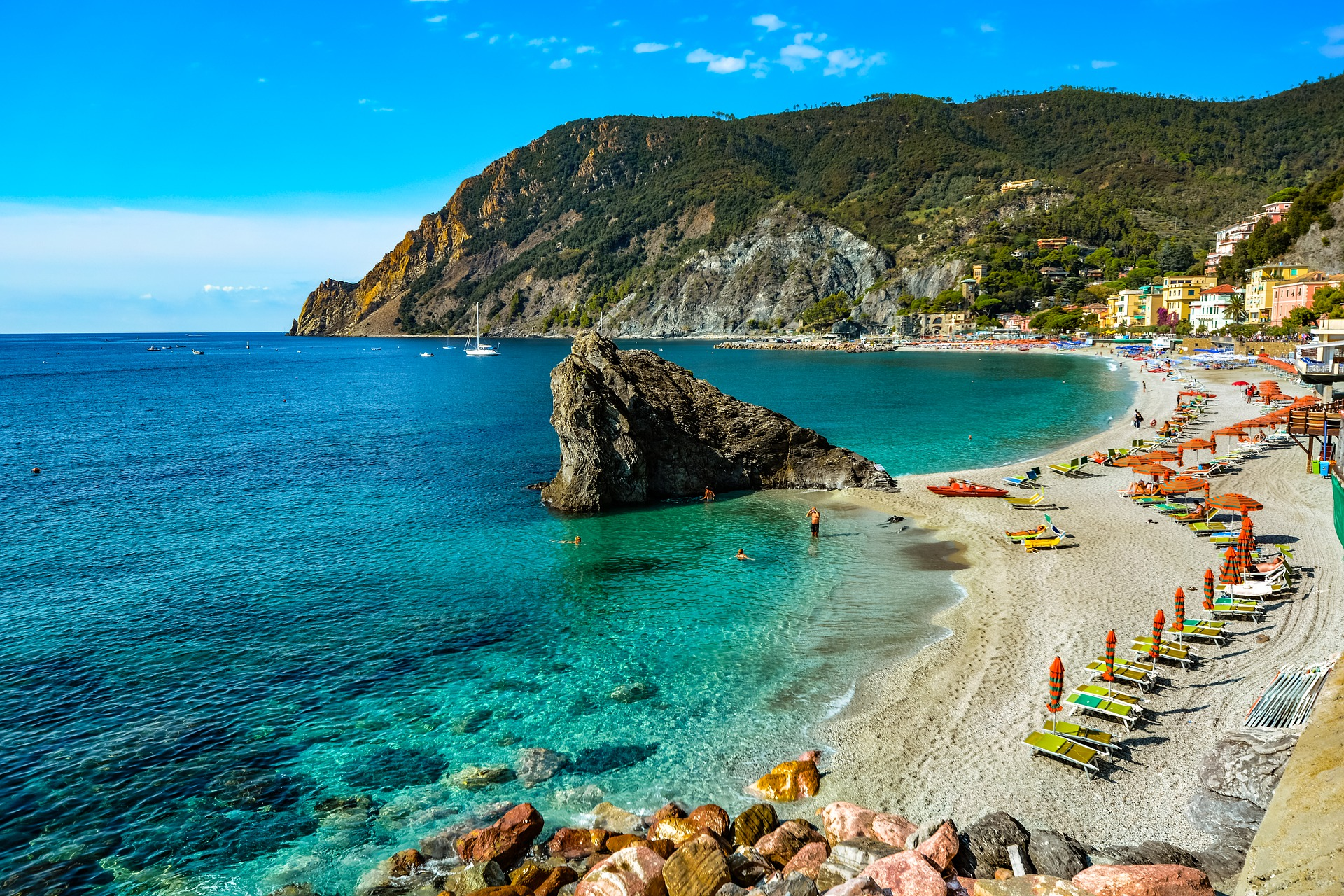 The beach at Monterosso.