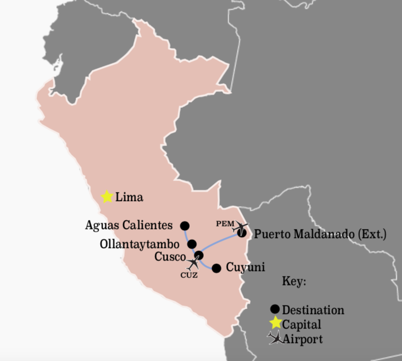 Peru Expedition Route