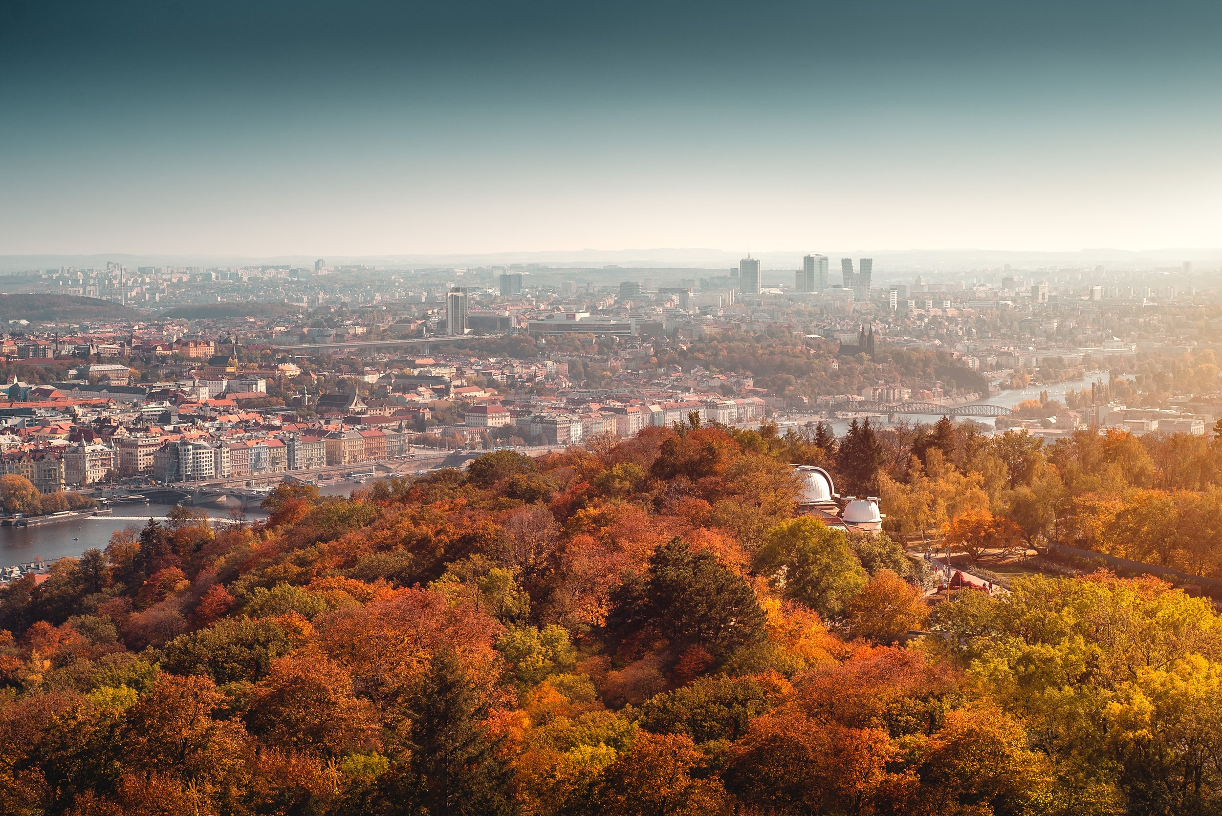 View from Petrin Tower, Czech Republic