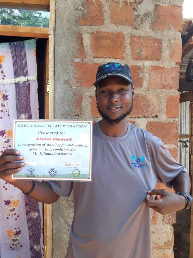 Abdul Hemed, Acanela's artisan guide up Mt. Kilimanjaro