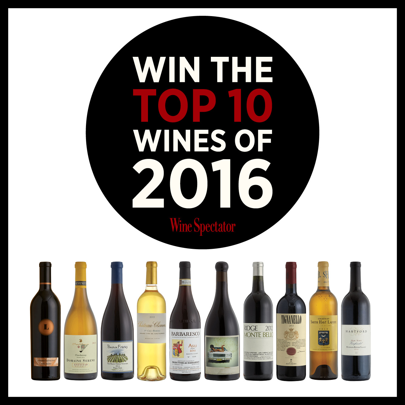 Top 10 Wines Sweepstakes Instagram post, 2017
