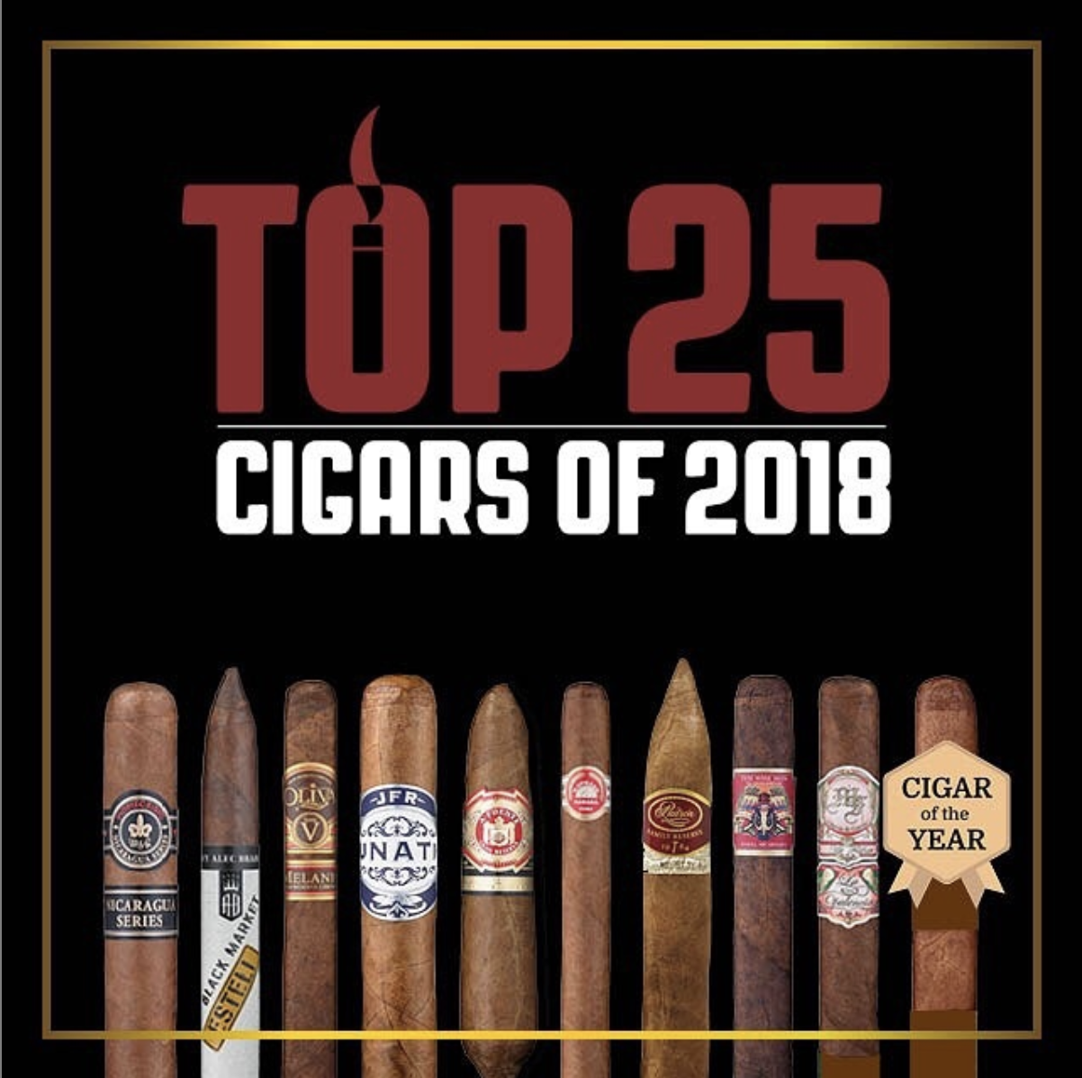 Cigar Aficionado Top 25 Instagram post, 2018