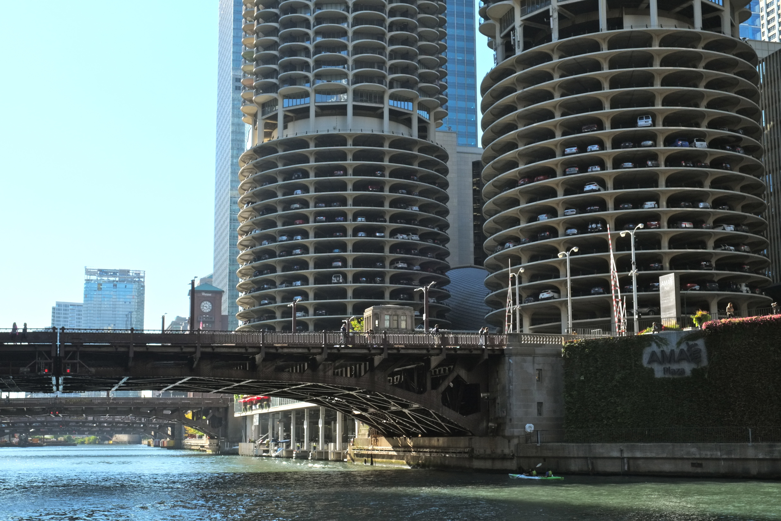 Marina City. Designed by Architect  Bertrand Goldberg
