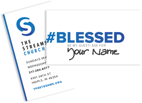 Cards available at The Streams. Grab some and write your name underneath #Blessed!Give them with a blessing.