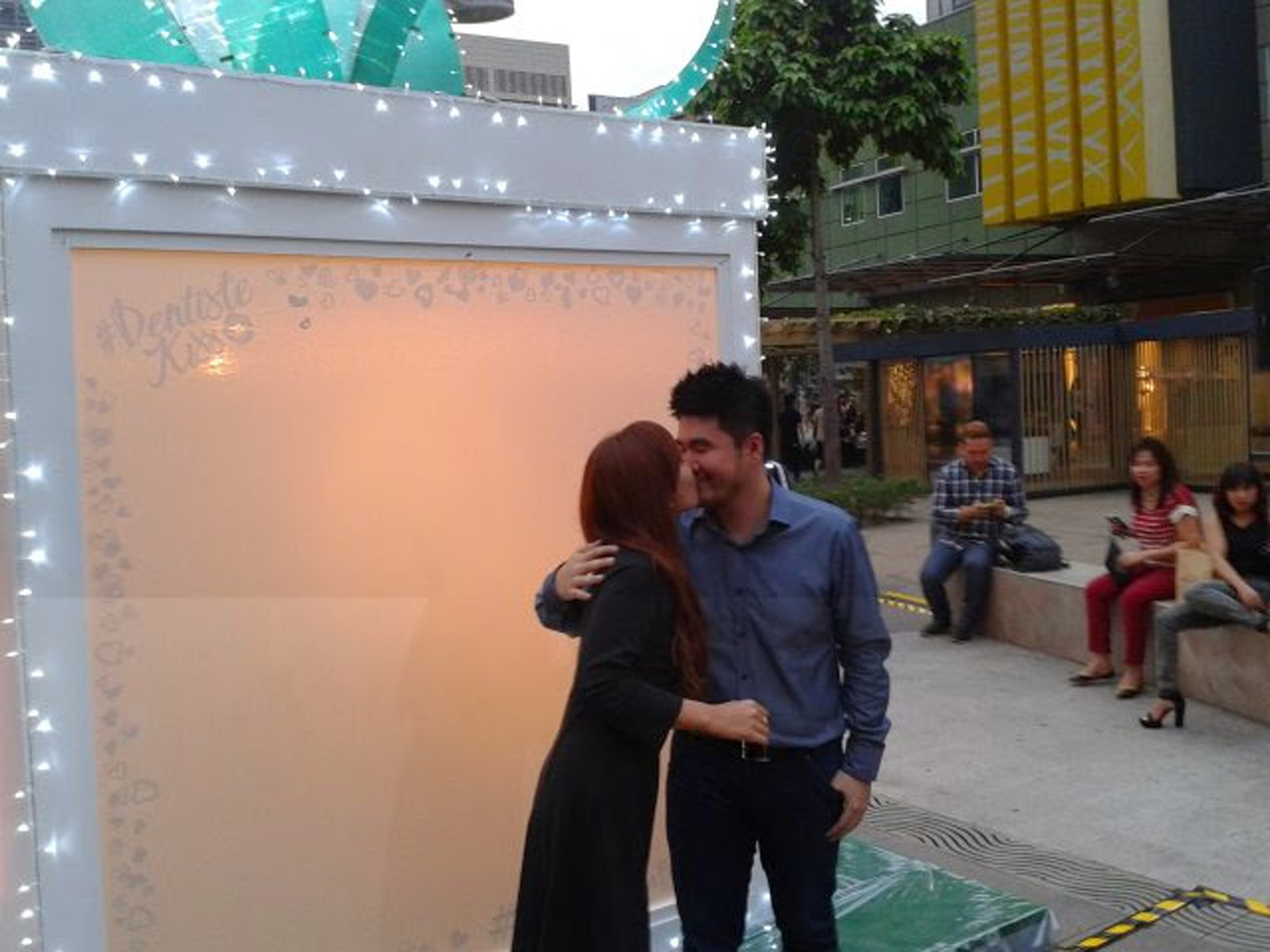 Kissing at Mystery Box