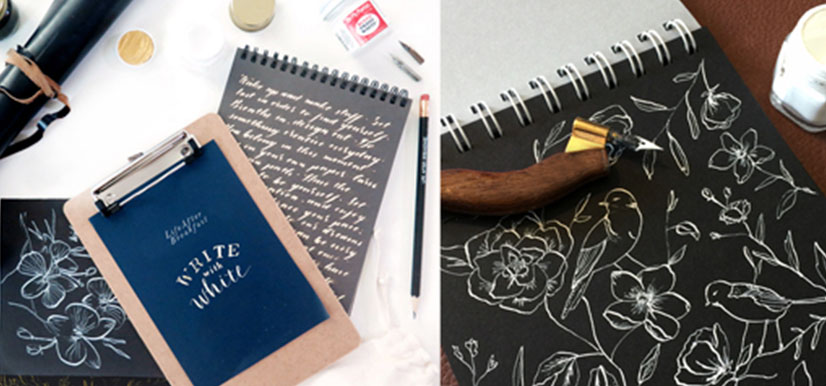 Write with White Calligraphy