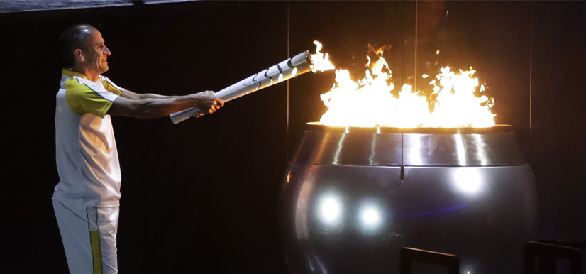 The Lighting of the Olympic Flame