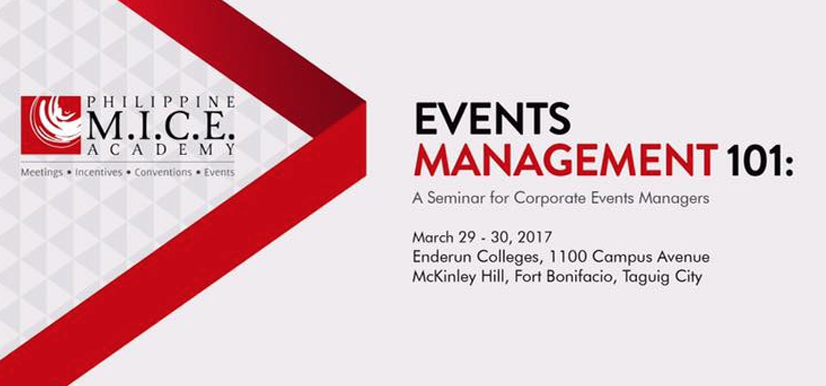 Events Management 101: A Seminar for Corporate Events Managers