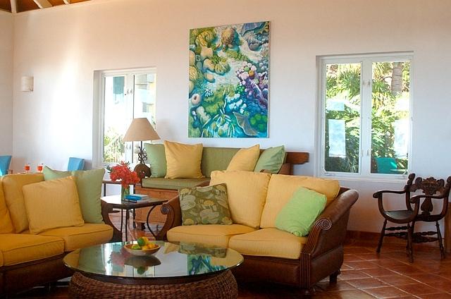 The villa great room