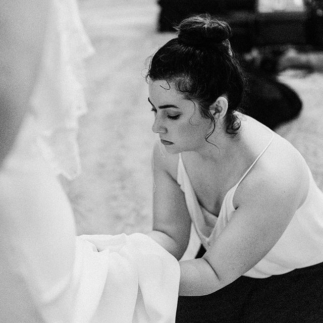It was never about the photography - it was about being a servant on someone's wedding day. @catherinenicolephotography caught this of me sewing in a last-minute bustle for a bride and it makes my heart so happy. That's what I enjoy MOST. . . . . . . So I realize I haven't been super clear about my career over the past few months - likely because I have NO idea what I'm gonna do. I've been anxious + fearful that maybe I'm making the biggest mistake, but it feels a little more like freedom. I'm just trying to trust that the Lord will provide and I'm learning to depend on him (which is probably my biggest weakness). I DO know that I'm cutting back on weddings significantly and it will no longer provide most of my income. I'm applying to retail jobs and hoping to find something full-time. It's all so new to me. I haven't done this in a while and I'm SCARED. What if I hate it? What if I still want to do weddings? What if I don't make enough money? Who knows. Taking a leap of faith here and just really hoping to learn how to take care of myself and my family first. I've loved this journey and it's taught me so much about responsibility + dedication. It provided money for my family and a creative outlet to grow in. It provided a place where I was able to make people feel comfortable in a vulnerable state and to become much more than clients. And to my clients 😭 I am incredibly grateful. Words cannot express what you've done for me. To be able to tell your story is the greatest honor and it's a bittersweet feeling to move on. It feels like I'm leaving something so beautiful behind and starting a new beautiful chapter at the same time. But it's not completely over! Still booking sessions and births - maybe just not as many. I reallly love y'all!