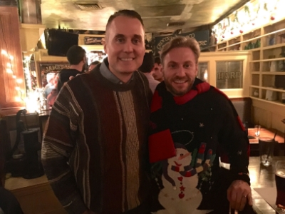 (Jason and I at the Techstars Austin ugly sweater holiday party - sadly, 15 years ago I actually thought that my sweater was a great one but everyone tells me it is a Bill Cosby design)