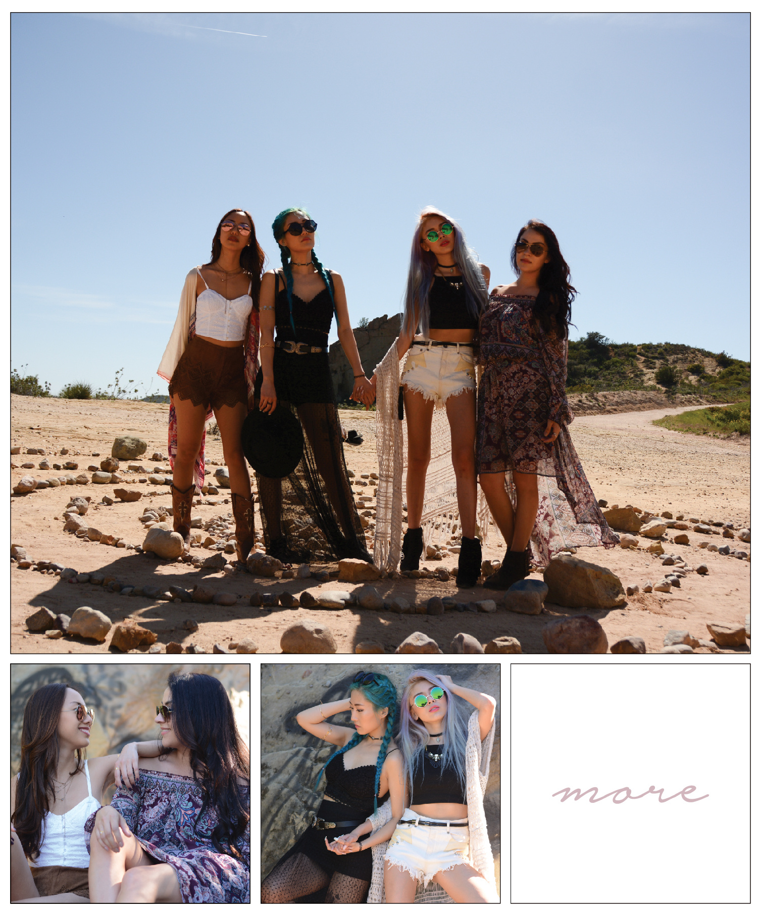 """With festival season around the corner, we gathered up our squad and brought Coachella to Malibu to have a """"festival"""" of our own. Click on image above for the full blog post!"""