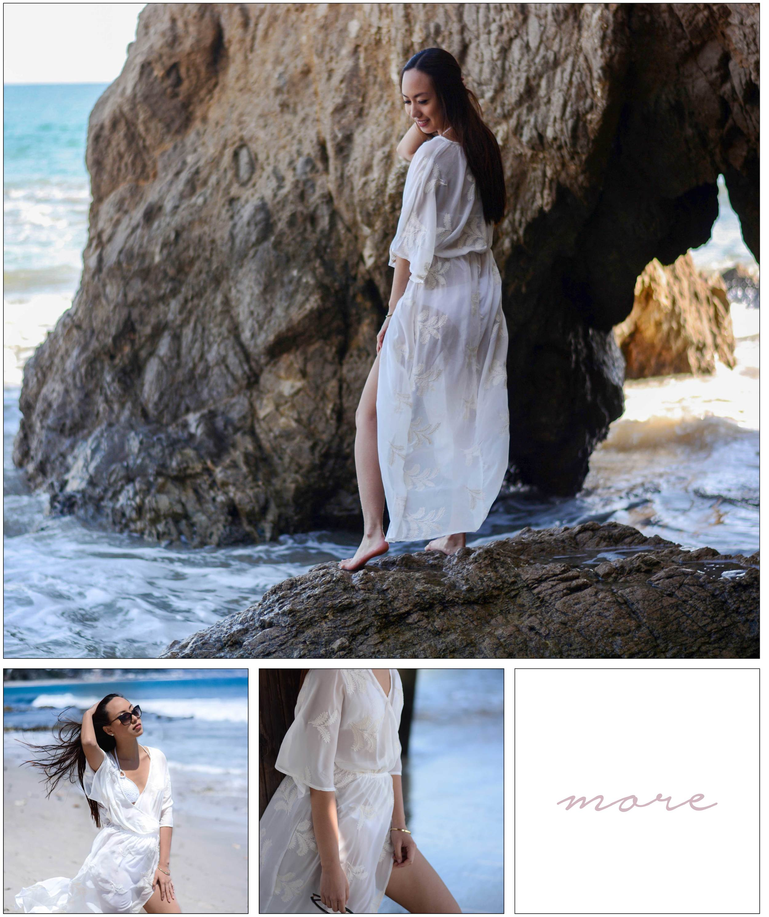 As soon as I received my cover-up from  Go Jane I knew I had to show it off somewhere worth visiting, so I drove towards Malibu for a daycation at Paradise Cove.