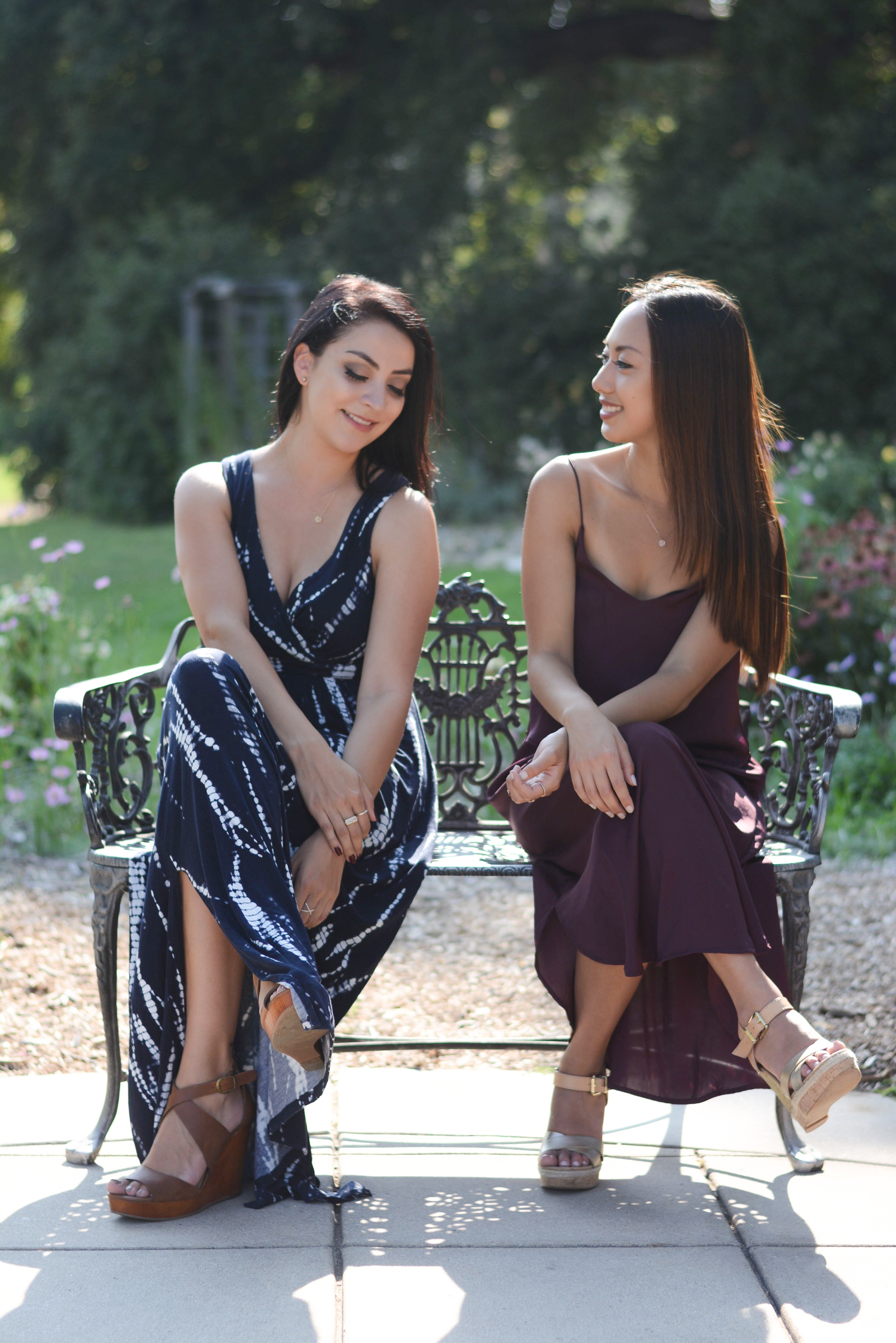Our dainty jewelry is from  ViLing Designs . They're an LA brand and have the cutest pieces, especially for besties   👭   (like the  morse code bracelets !)