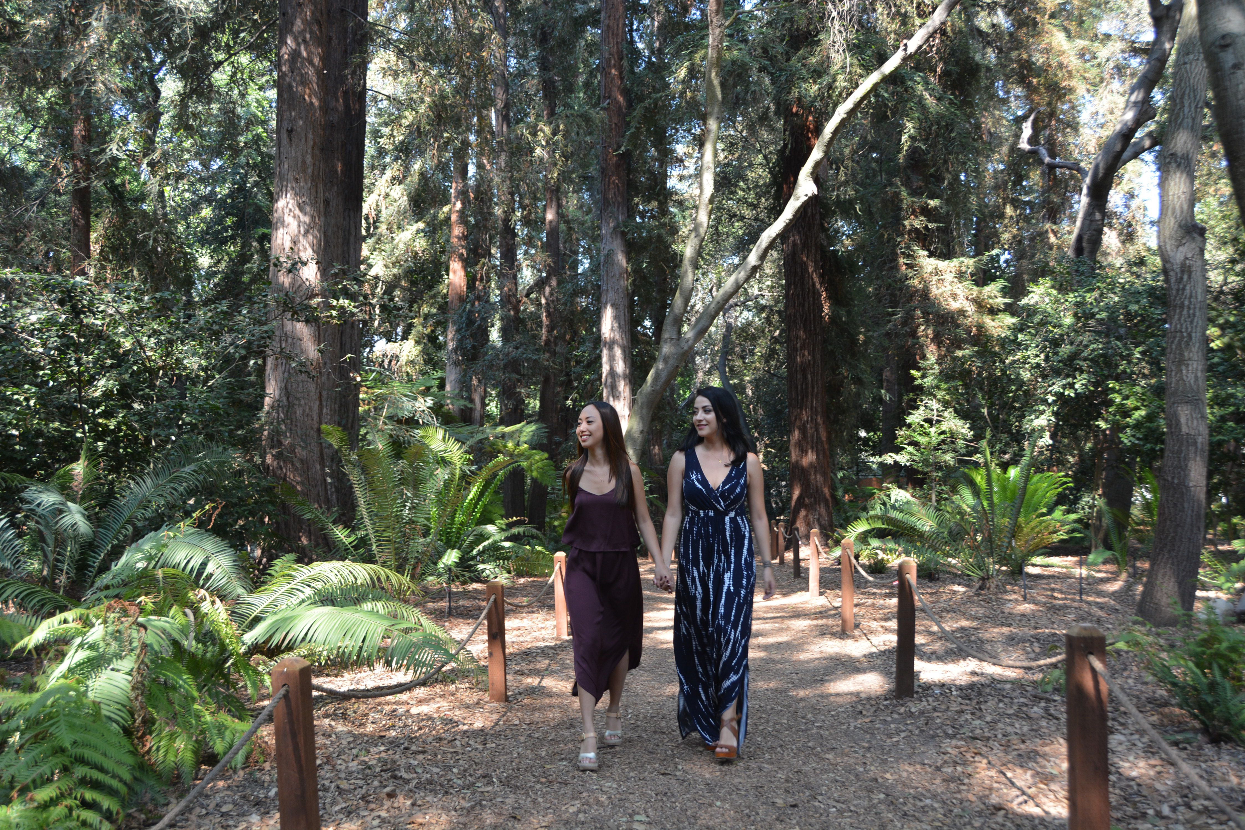 We paired our dresses with wedges. If you plan on visiting the gardens be sure to wear comfortable shoes because there can be a lot of walking involved. Quick tip: always carry band-aids in your wallet, you never know when you will need one!