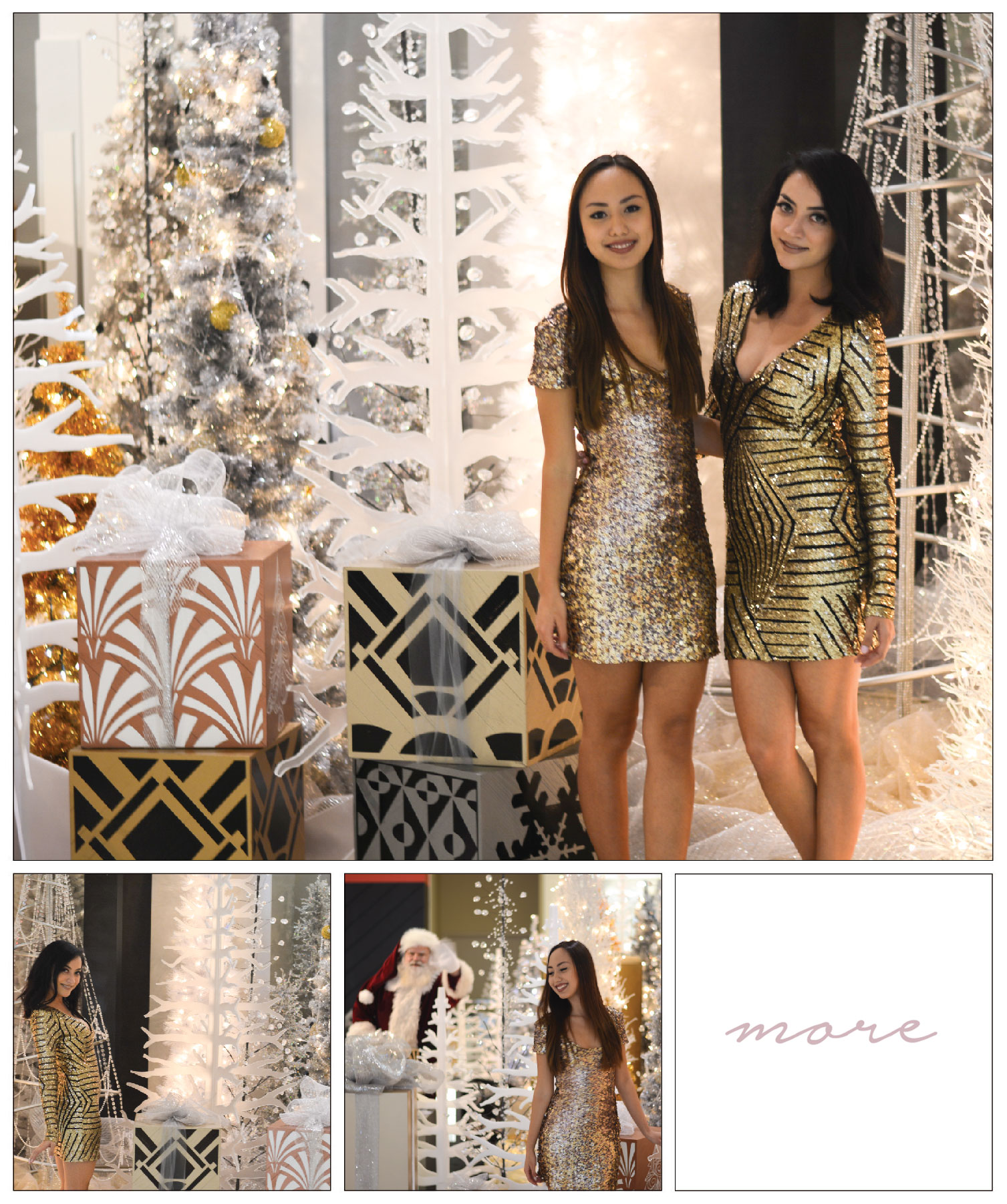 We love the holidays (who doesn't?)! It's the perfect time to buy a fun, new outfit, or bring out those glamorous sequins dresses. Click on more for the details!