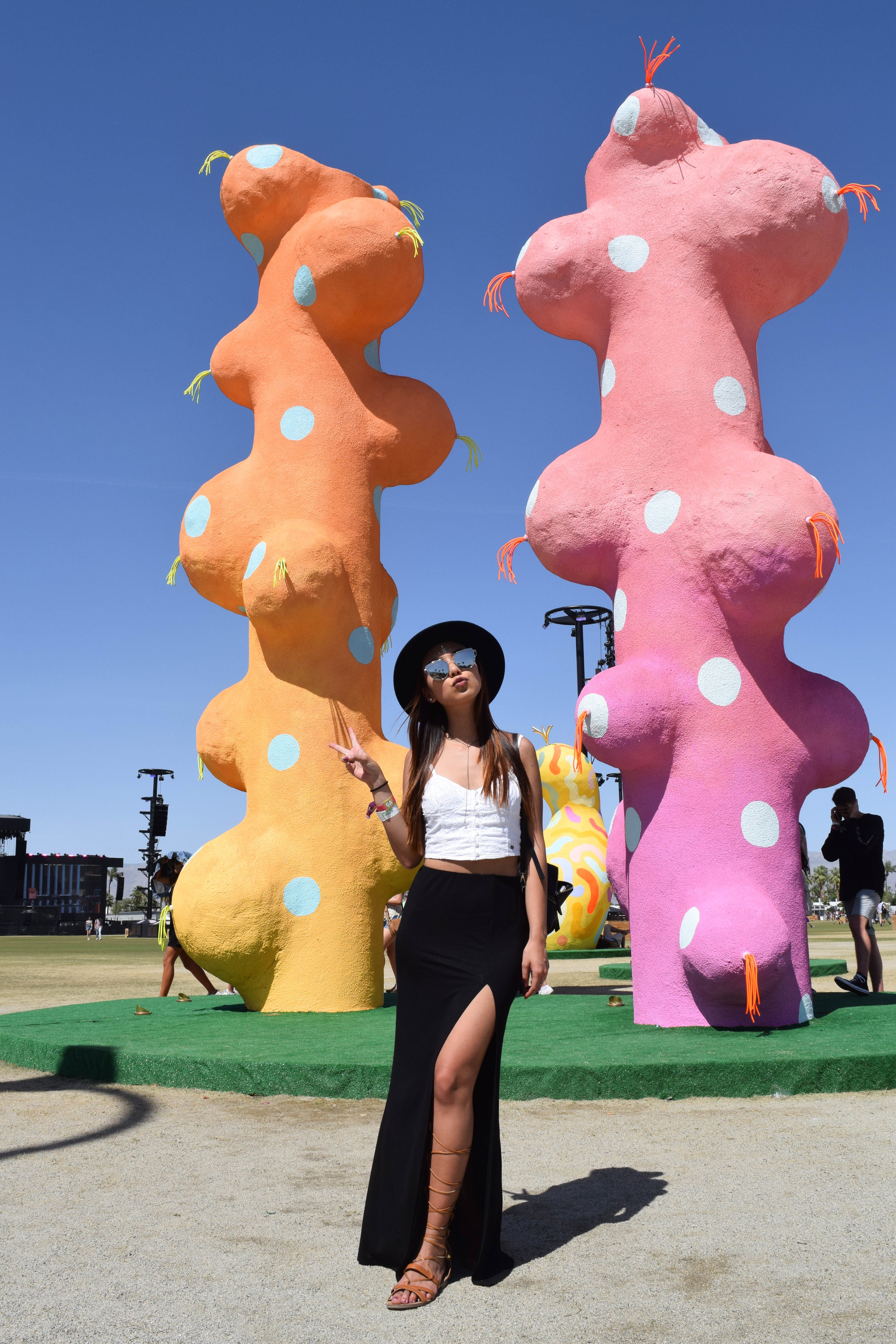 Lovin' the crazy art installations! Although, these look a bit phallic to me….😛